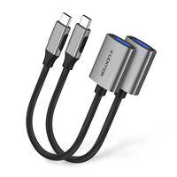 LENTION 2pc USB C Typ C Hub auf USB 3.0 Kabel OTG Adapter Konverter for MacBook