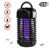 Electric USB Fly Zapper Mosquito Killer Bug Insect Pest LED Lamp Trap Control RG