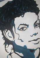 Michael Jackson Portrait Painting Canvas With Oil  Artist Unknown Awesome!