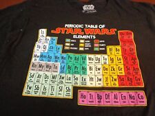 Star Wars Periodic Table of Elements Graphic T-Shirt  Large   W7