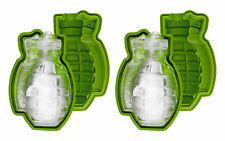 Large 3D Grenade Shape Ice Cube Mold Maker Silicone Party Bar Military Gift 2PK