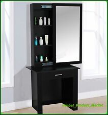 Large Dressing Table Sliding Mirror Spacious Shelves Drawer Wooden Beauty Table