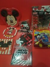Disney Mickey Mouse Party Supplies Classic *8pc*Banner*Plates*Napkins*Favors*Hat