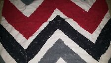 Standard Pillow Sham Red, Blue And Gray