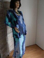 ROHMER SPORTWEAR ensemble 4 pièces robe + top + chemise + jupe T 38 MARINE BLEU
