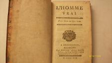 Livre rare GRAILLANT DE GRAVILLE  L'homme vrai  1761 Edition originale