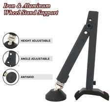 Folding Aluminum Motorcycle Wheel Single Sided Paddock Support Stand Tire Repair