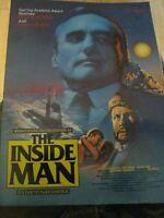 The Inside Man DENNIS HOPPER 1984 original video store movie poster 17x35 folded