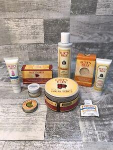 Burt's Bees Lot -Cleanser, Sugar Scrub, Body Bar, Lotion, Toner, Night Cream NEW