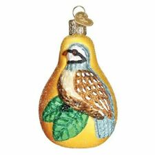 Old World Christmas 16070 Glass Blown Partridge in a Pear Ornament