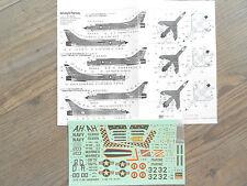 """F-8E/N CRUSADER """"3 USN/USMC/FRENCH MARINE"""" HASEGAWA DECALS 1/72"""