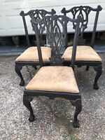 Vintage Chippendale Ball & Claw Style Dining/Side Chairs Set