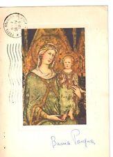 Cartolina Buona Pasqua 1965 Simone Martini La Maestà (GS95) ^