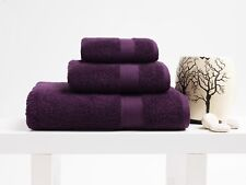2x Face / Guest Towels | Terry | Grape | 100% Turkish Cotton & Egyptian Style