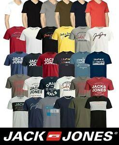 Mens Jack & Jones Branded Short Sleeve T Shirts Crew Neck Casual Tee Tops S-2XL
