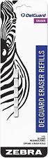 83225 Zebra Delguard Mechanical Pencil Eraser Refill White Eraser 1 Pack