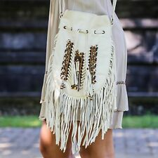 Boho Bag with Real Leather | Fringe Purse | Bohemian Fringed Handbag | Hobo Bags