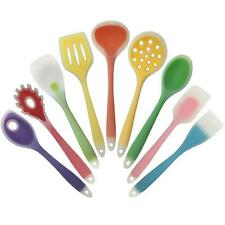 Silicone Kitchen Cooking Tools Nylon Food Grade Spatula Spoon Colorful Cookware