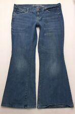 Q105 American Eagle REAL FLARE Bell Bottom Boho Jeans Tag sz 14 Short (35x29.5)