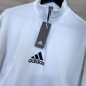 Adidas Game & Go 1/4 Zip Pullover Sweater White Women's Size M