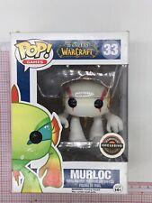 Funko Pop #33 -World of Warcraft - Murloc (White) Gamestop NOT MINT BOX B032