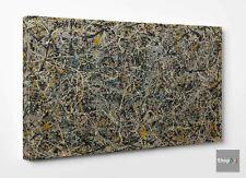🖌 Quadro Astratto Pollock N.1 Stampa su Tela Canvas Vernice Pennellate Dripping