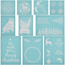Xmas Silk Screen Printing Stencil For Polymer Clay T-Shirts  Ceramic Tile Glass
