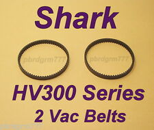 2  Shark Vacuum Belts HV300 Series HV301, HV302, HV305, HV308 Rocket Floor Brush