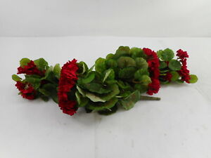 Nearly Natural 6127-S2- 26 Artificial Plant, Geranium (Set of 2) Red