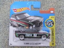 "Hot Wheels 2017 #057/250 1973 BMW 3.0 CSL RACE CAR  black ""No 7"" Speed graphics"
