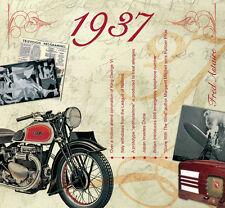 81st BIRTHDAY GIFT - 1937 Classic Years Retro Pop Music CD & Year Greeting Card
