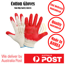 Safety Work Cotton Gloves Knitted Labor Garden Non Slip Protect Glove 10 pairs