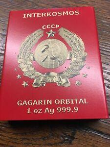 1 oz argent silver silber Gagarin orbital interkosmos 2021 Germania mint colored