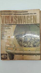 Scientific Publications No 46 Volkswagen 1100 1200 1200A 1300 1500 Repair Manual
