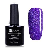 7.5ml UR SUGAR Soak Off UV Gel Nail Polish Nail Art Gel Varnish Glitter Purple