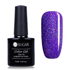 7.5ml UR SUGAR Soak Off UV Gel Nail Polish Nail Art Gel Varnish Glitter Purple