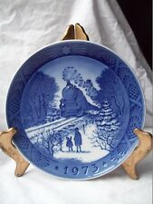 Royal Copenhagen 1973 Collectible Plate~Going Home For Christmas~Hanging Ceramic