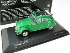 CITROËN 2CV 1980 GREEN 1/43 Minichamps