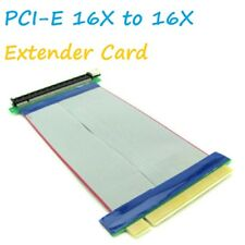 PCI-E Express 16X to 16X Extender Extension PC Ribbon Cable Riser Card A++