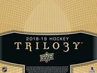 2018-19 Upper Deck Trilogy Red or Black Foil Hockey Cards Pick From List