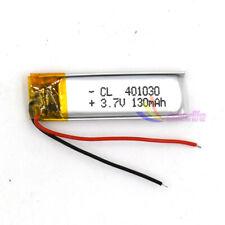 3.7V 401030 130mAh Lipo Rechargeable Battery Lipolymer Cell For GPS PSP Camera