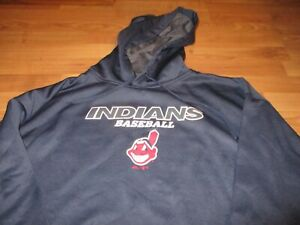 NEW NWT MENS MAJESTIC CLEVELAND INDIANS CHIEF WAHOO HOODIE SIZE 4XLT TALL