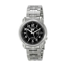 SEIKO MEN AUTOMATIC SEE THROUGH NUMERAL BLACK DIAL STEEL WATCH SNKL93 SNKL93K1