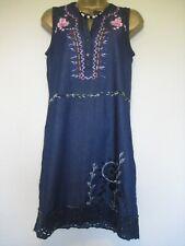Desigual denim blue floral dress size 36