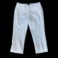 *BNWT* ADIDAS Ladies White Cropped Trousers Sz 16 UK Golf Climacool / b33