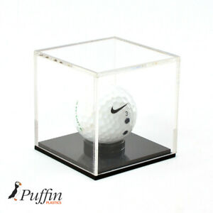 Golf Ball Display Case With Black Base