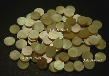 "100+5pcs Free 6.35mm/1/4"" Gold Mother of Pearl Dots,Shiny,Gold with Iridescence"