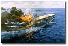 """Pawn Takes Castle"" by Tom Freeman - Battle of Midway, Attack on the Akagi"