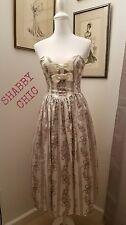 Vintage Jessica McClintock Gunne Sax Strapless Floral Bow Tafetta Dress 2