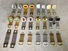 Vintage Lot 8 Pair Wrap Cufflinks / 4 Wrap Attachments * Rhinestones * Swank